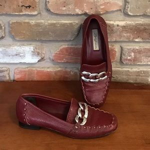 BRIGHTON Leather Flats Loafers KYLEE